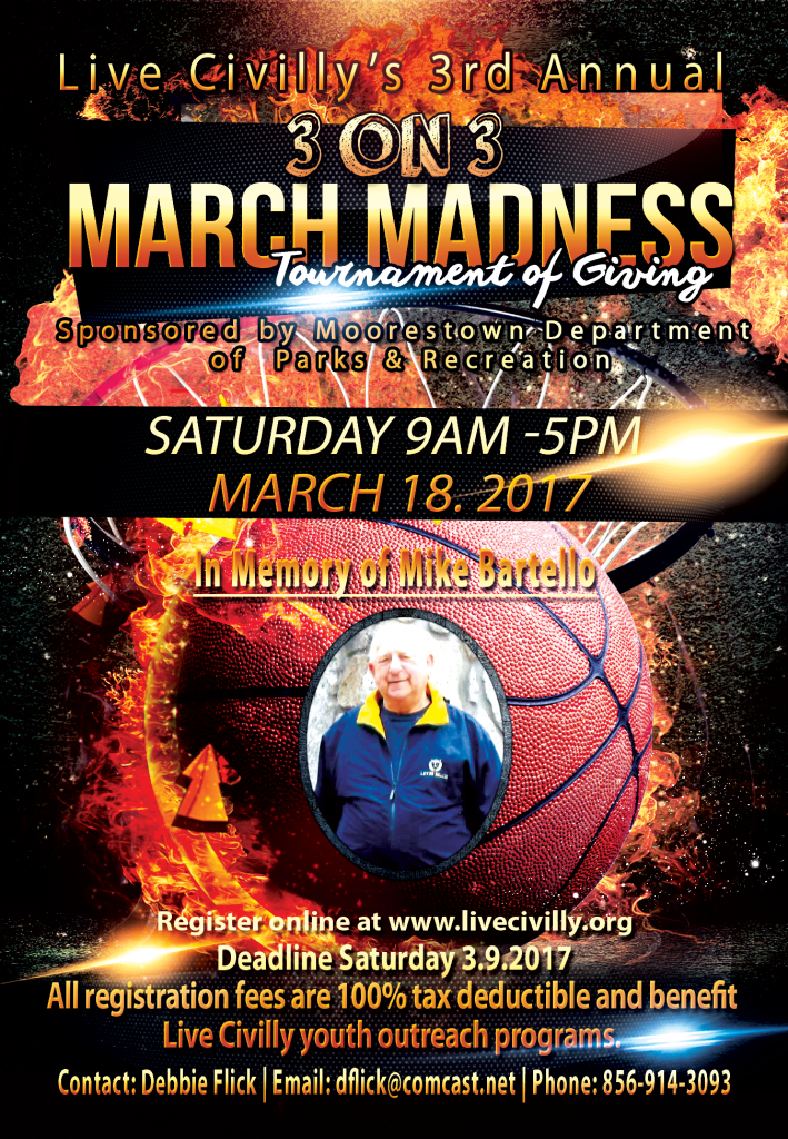 Live Civilly 3rd Annual March Madness Tournament Of Giving